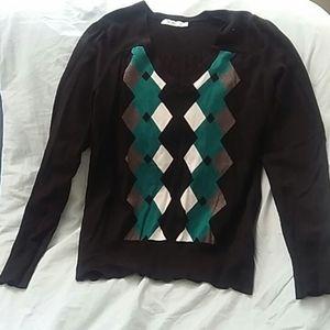 Argyle Detail Sweater